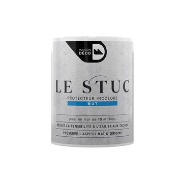 Peinture à effet, Protecteur incolore mat le stuc MAISON DECO, incolore, 0.75 l