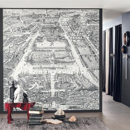 Papier Peint Paris Noir Intisse Shades Leroy Merlin