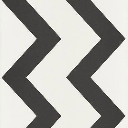 Papier Peint Rayure Zig Zag Noir Blanc Irisé Intissé Shades Leroy