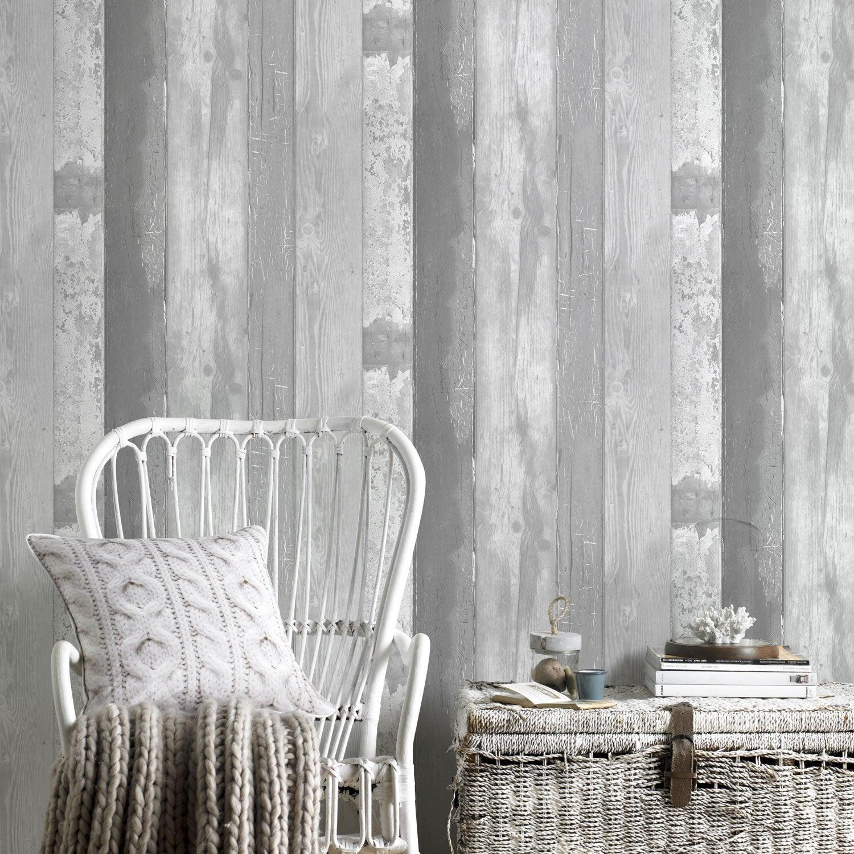 Papier peint vinyle Eastport gris