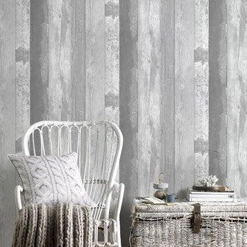 Papier peint intissé Eastport gris