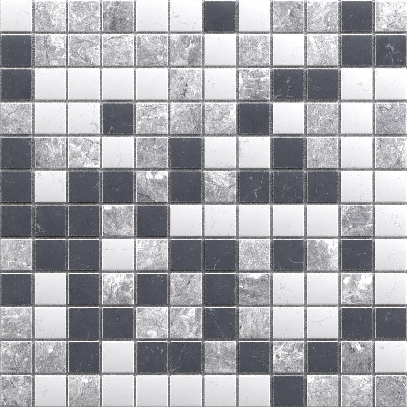 mosa que sol et mur mineral marbre noir blanc et gris 2 3. Black Bedroom Furniture Sets. Home Design Ideas