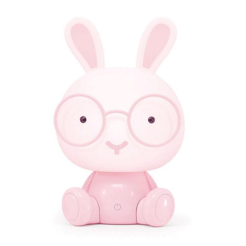 Lampe Veilleuse Enfant Pvc Rose Tactile Seynave Bunny