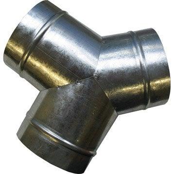 Y en acier galvanisé DMO - Diam.125 mm