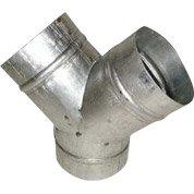 Y en acier galvanisé DMO, 1 sortie diam. 150 mm + 2 sorties diam. 125 mm