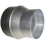 Réduction en acier galvanisé DMO, diam.125/150 mm