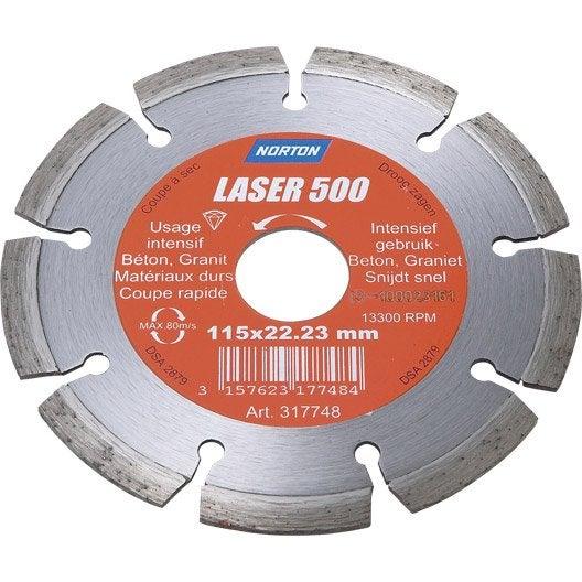 disque diamant pour matériaux de construction norton, diam.115 mm