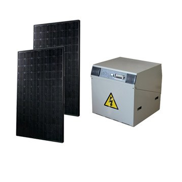 Kit solaire complet Power WATT&HOME 370W, onduleur 600W, batterie 400Ah