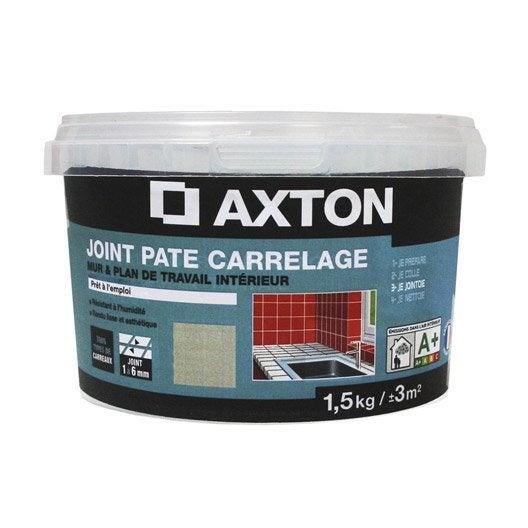 joint en p te tout type de carrelage et mosa que axton blanc 1 5 kg leroy merlin. Black Bedroom Furniture Sets. Home Design Ideas