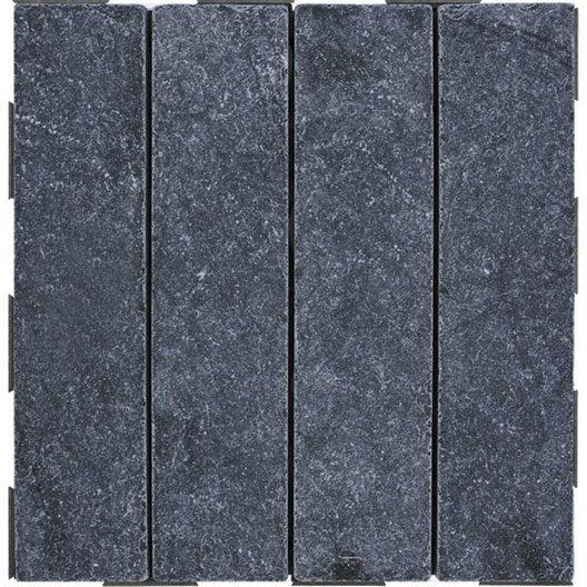 Dalle clipsable SNAP AND GO en pierre naturelle gris, L 30xl 30 cmxEp 25 mm