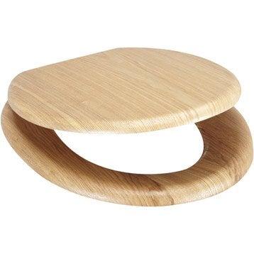 Abattant imitation chêne bois moulé plaqué Imitation chêne