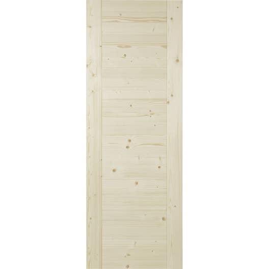 porte coulissante marron horizon 204 x 83 cm leroy merlin. Black Bedroom Furniture Sets. Home Design Ideas