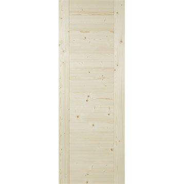 Porte coulissante  marron Horizon, 204 x 83 cm