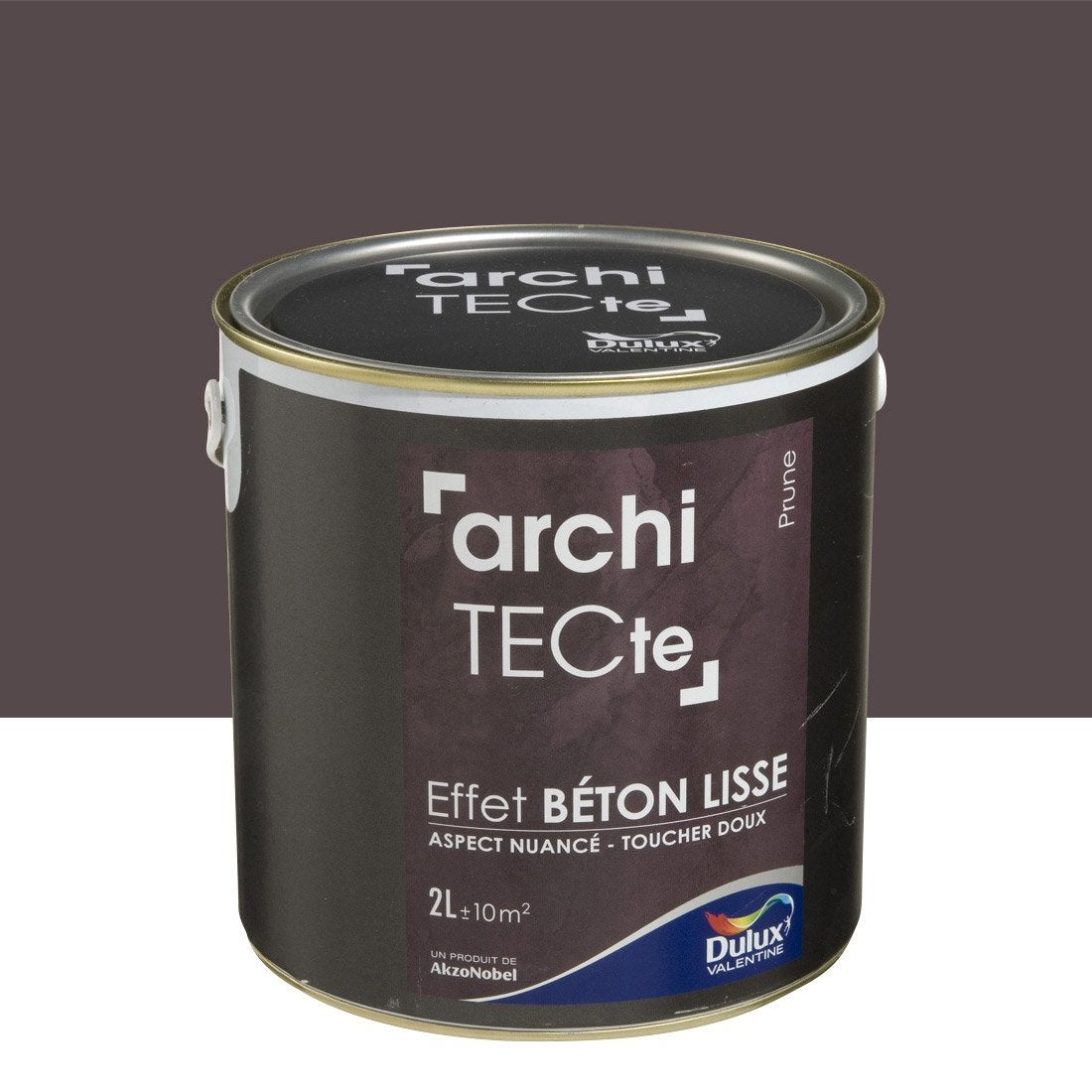 peinture effet architecte effet b ton dulux valentine prune 2 l leroy merlin. Black Bedroom Furniture Sets. Home Design Ideas