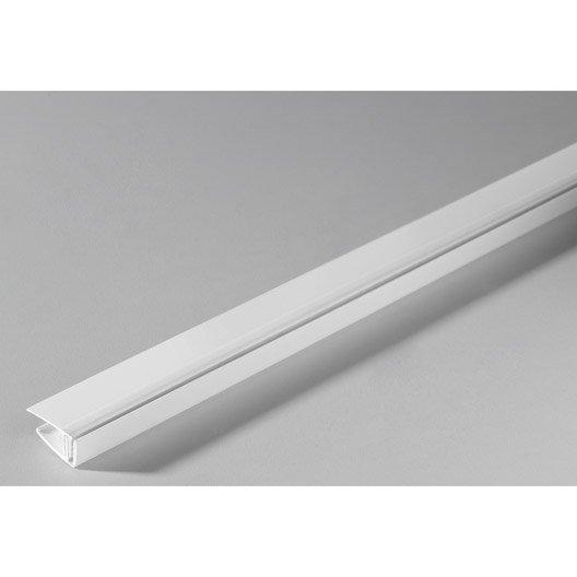 Profil de d part clipsable pour lambris pvc blanc long 2 for Cuisine 6m de long