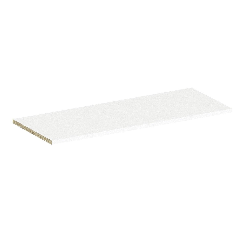 Tablette Salle De Bain 80 Cm tablette spaceo home 1.6 x 80 x 30 cm, blanc