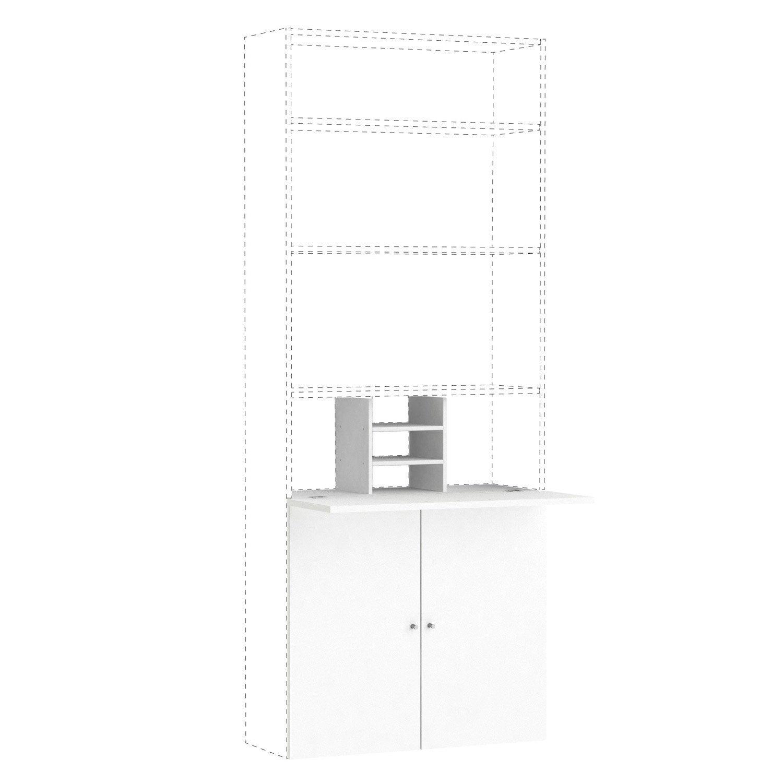 Kit bureau SPACEO Home 100 x 80 x 30 cm, blanc | Leroy Merlin