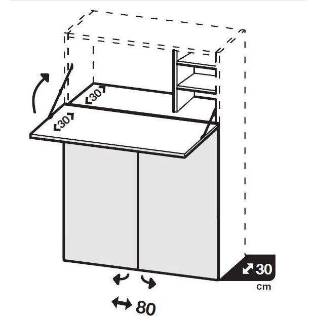 Kit Bureau Spaceo Home 100 X 80 X 30 Cm Blanc