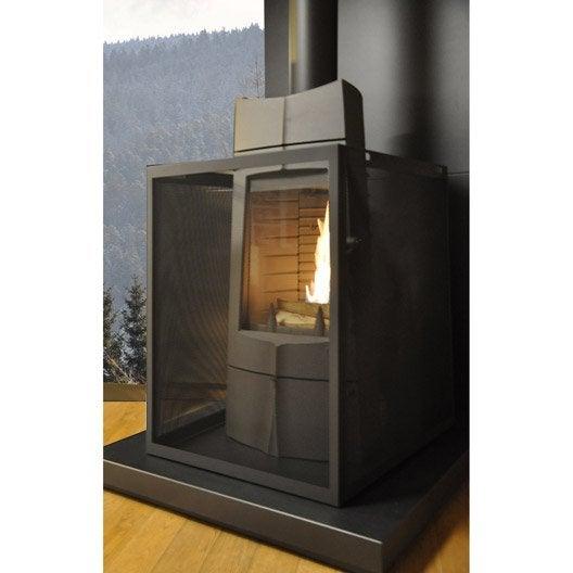 pare feu pour po le m tal gris equation d montable x cm leroy merlin. Black Bedroom Furniture Sets. Home Design Ideas