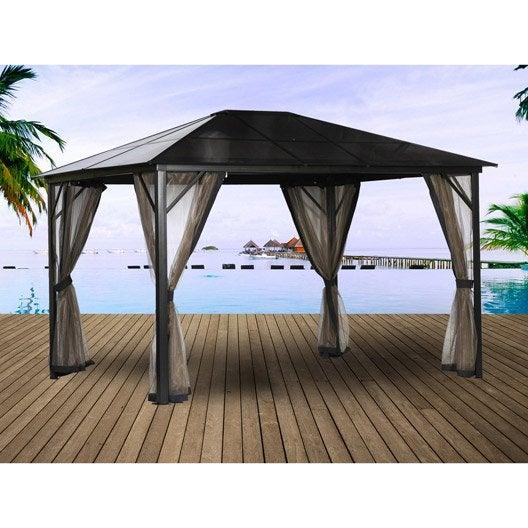 tonnelle autoportante aluminium gris fonc m leroy merlin. Black Bedroom Furniture Sets. Home Design Ideas
