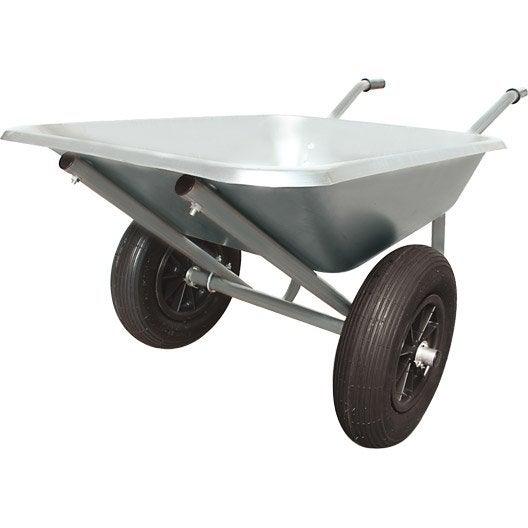 brouette roue gonfl e acier galvanis altrad 100 l leroy merlin. Black Bedroom Furniture Sets. Home Design Ideas