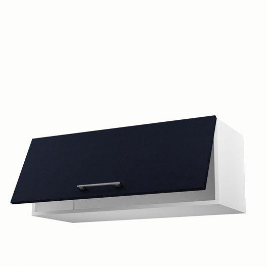 meuble de cuisine haut bleu 1 porte topaze x x cm leroy merlin. Black Bedroom Furniture Sets. Home Design Ideas