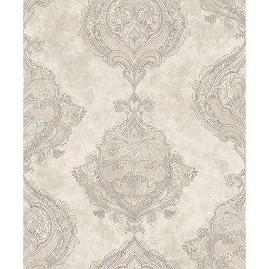 papier peint classic beige beige fonc bleu intiss jade leroy merlin. Black Bedroom Furniture Sets. Home Design Ideas