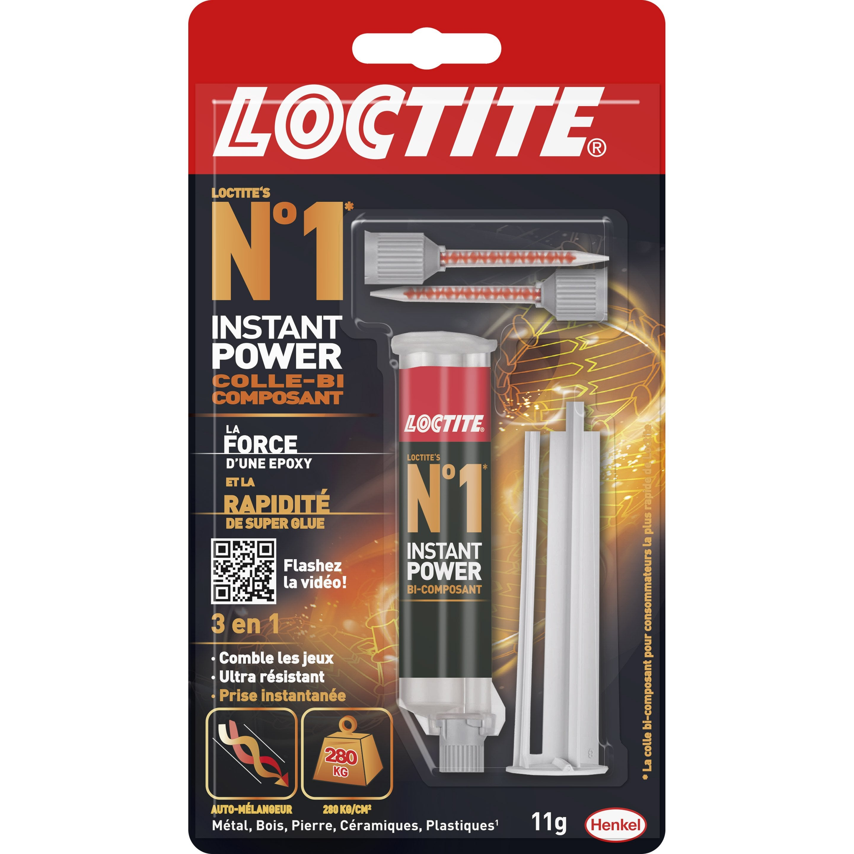 Colle Thermofusible Leroy Merlin colle seringue époxy loctite n°1 loctite, 11 g