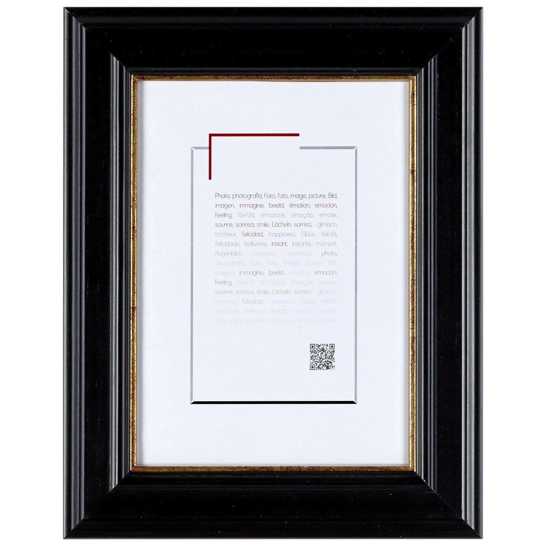 Cadre Gaïa, 30 x 40 cm, noir