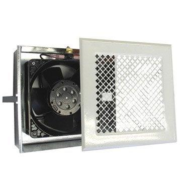 Boitier de ventilation air chaud pour hotte DMO, blanc, 170x170 mm