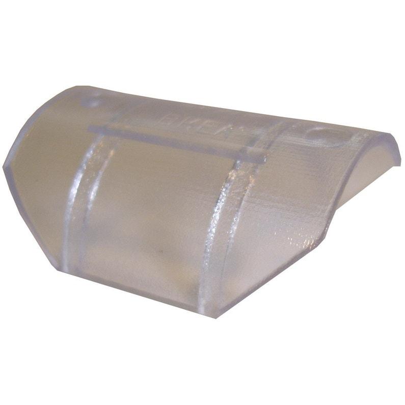 Glisseurs Tringle à Rideau Design 20 Mm Plastique Transparent