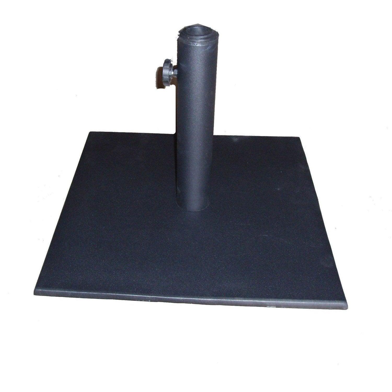 pied de parasol lest helios noir 45x45cm leroy merlin. Black Bedroom Furniture Sets. Home Design Ideas