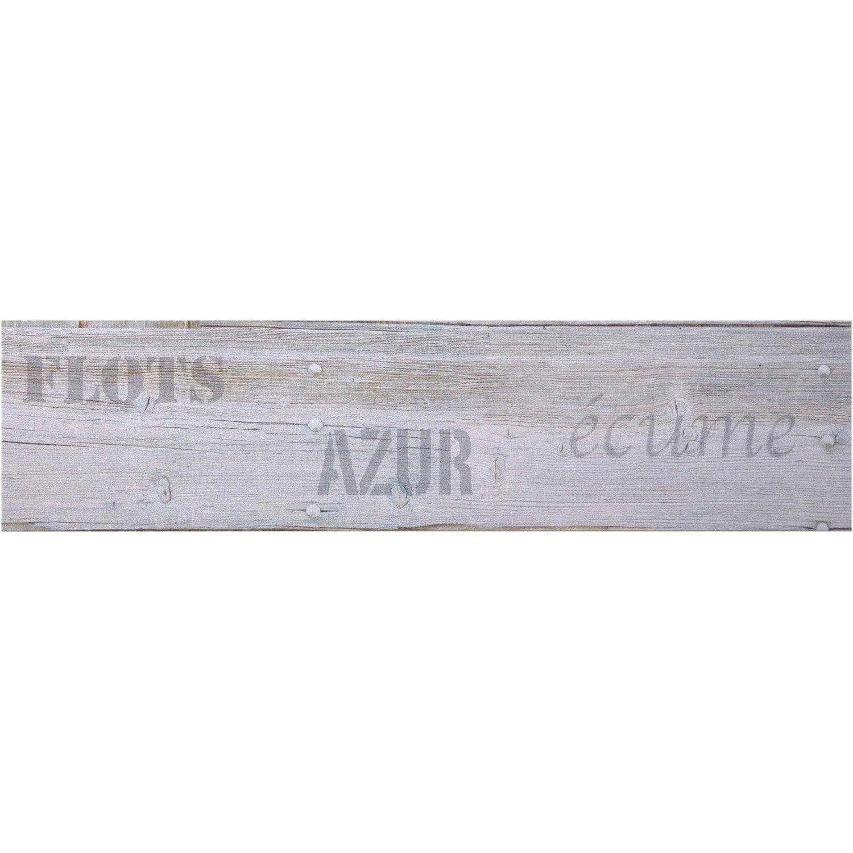 Frise vinyle adhésive Planche L.5 m x l.11.5 cm   Leroy Merlin