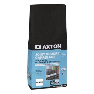 Joint poudre tout type de carrelage et mosaïque AXTON, blanc, 10 kg