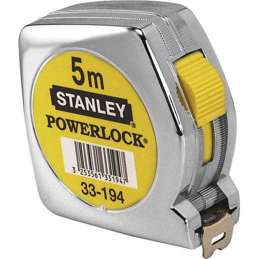 Mètre ruban métal STANLEY Powerlock 5 m