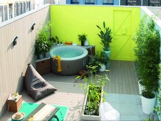 Créer un rangement autour du spa