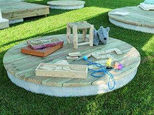Créer un îlot de terrasse bois