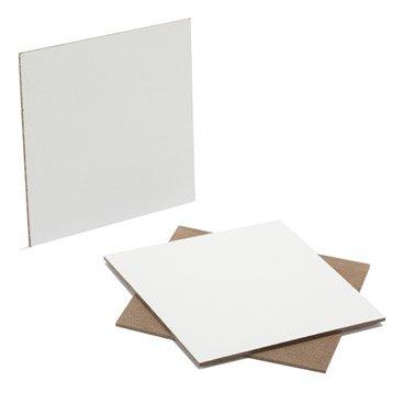Prédécoupé fibres dures blanc, Ep.3.2 mm L.80 x l.60 cm