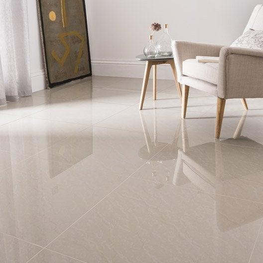 Carrelage sol et mur beige effet marbre maderas x l - Carrelage cuisine noir brillant ...
