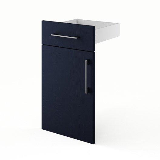 Porte et tiroir de cuisine bleu topaze x x for Porte cuisine 60 x 40