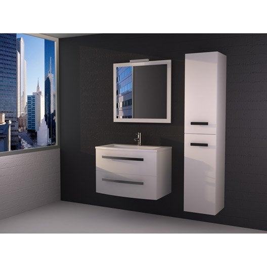 Meuble de salle de bains de 80 à 99, blanc / beige / naturels ...