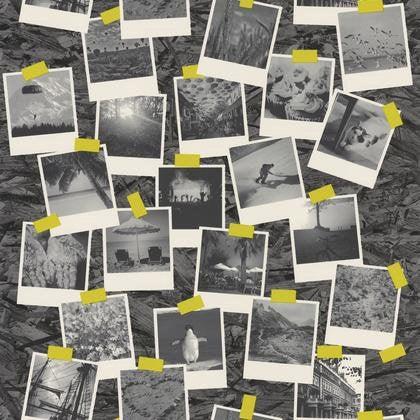 Papier Peint Polaroid Noir Intisse Street Art Leroy Merlin
