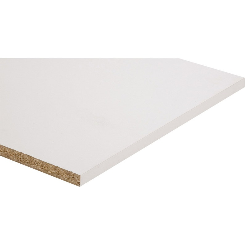 Tablette Melamine Super Blanc Spaceo L 250 X L 60 Cm X Ep 18 Mm Leroy Merlin