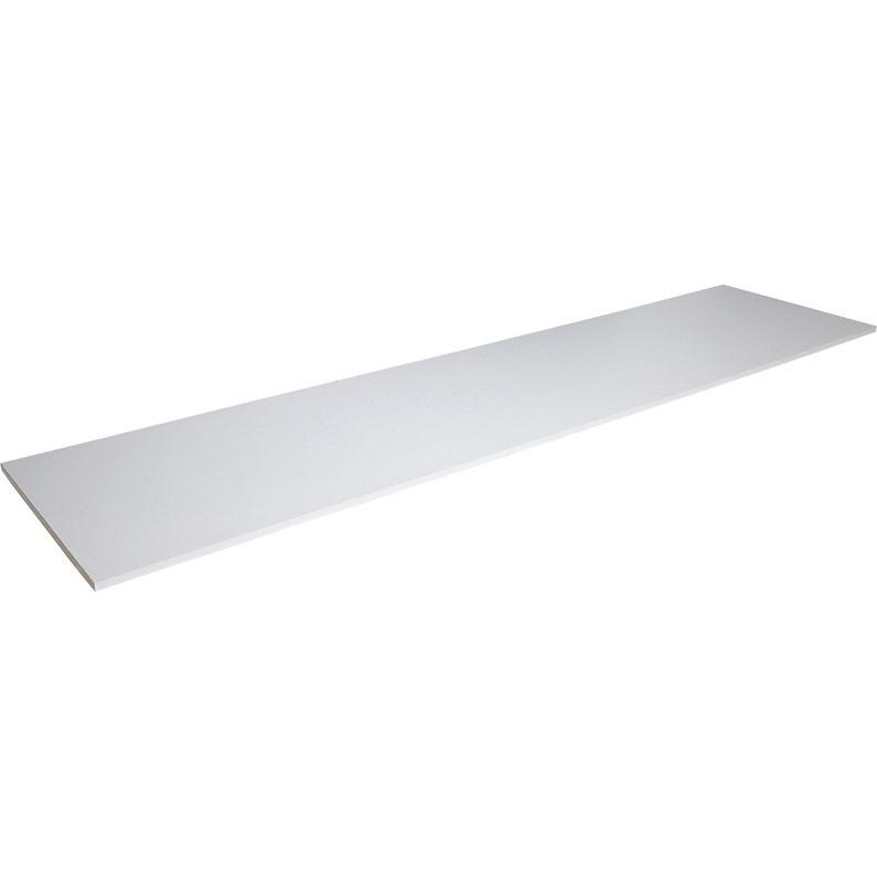 Tablette Mélaminé Super Blanc Spaceo L250 X L65 Cm X Ep28 Mm