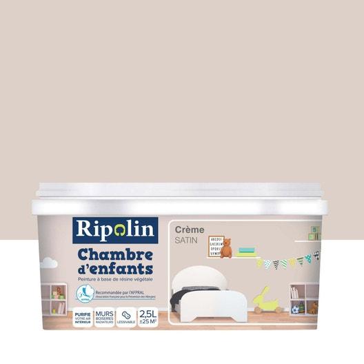 Peinture beige crème satin RIPOLIN Chambre enfants 2.5 l | Leroy Merlin