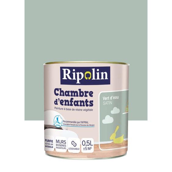 Peinture vert d\'eau satin RIPOLIN Chambre enfants 0.5 l   Leroy Merlin