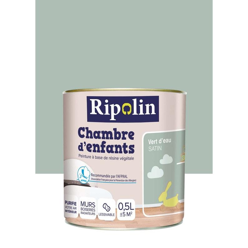 Peinture vert d\'eau satin RIPOLIN Chambre enfants 0.5 l | Leroy Merlin