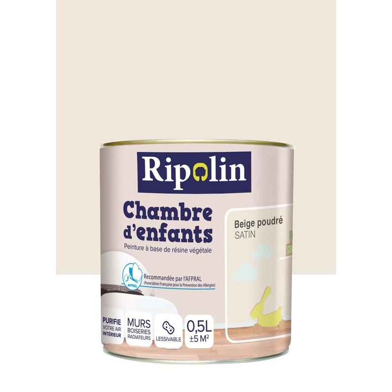 Peinture beige poudré satin RIPOLIN Chambre enfants 0.5 l