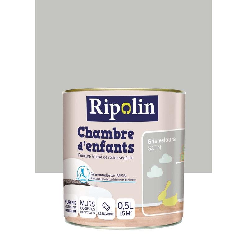 Peinture gris souris satin RIPOLIN Chambre enfants 0.5 l