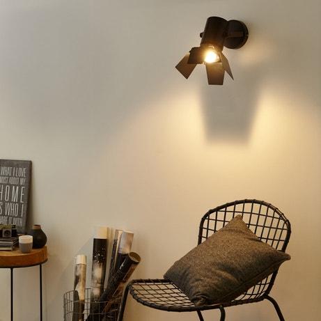 des spots et appliques noirs pour une touche de modernit leroy merlin. Black Bedroom Furniture Sets. Home Design Ideas